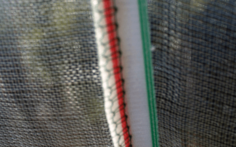 Malla mixta, mixed net, polytunnel covering nets. Cobertura de macrotúneles